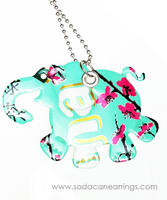 Elephant necklace hand made from recycled Arizona tea can