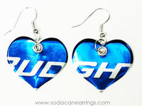 Bud Light Can Heart Earrings