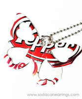 Butterfly necklace hand made from recycled Diet Dr.Pepper can