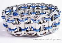 blue recycled pop tab bracelet