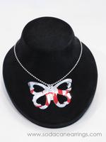 Butterfly necklace hand made from recycled Diet Coke can