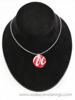 Mini Circle necklace hand made from recycled Coca-Cola can