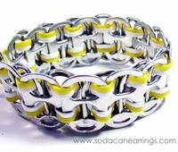 Yellow recycled pop Tab Bracelet